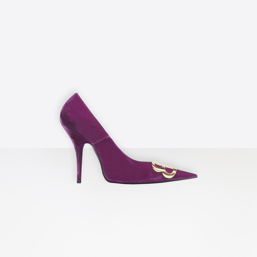BALENCIAGA BB Pumps Velvet BB Shoes Woman f