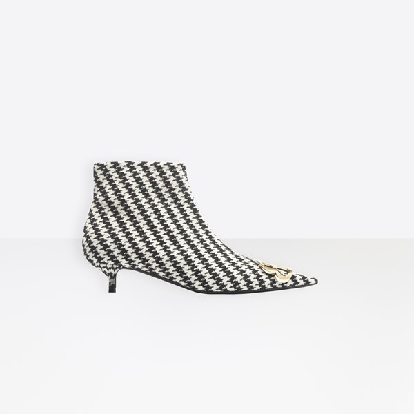 BB Booties Houndstooth