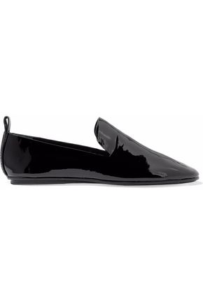 MERCEDES CASTILLO Tiziana patent-leather slippers