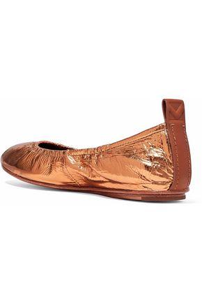 MERCEDES CASTILLO Carola leather-trimmed suede ballet flats