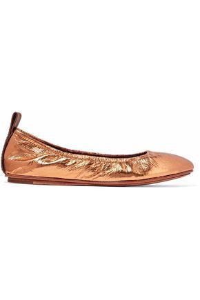 MERCEDES CASTILLO Carola snake-effect leather ballet flats