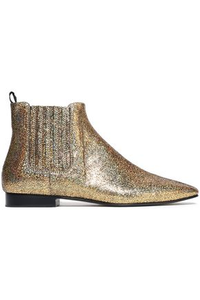 JOSEPH Glittered leather ankle boots