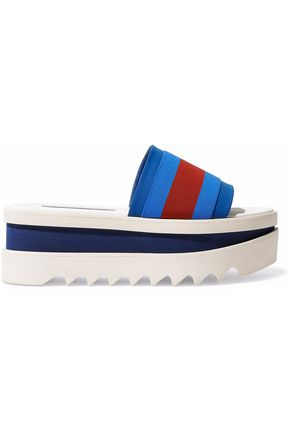 e7136ffe312 STELLA McCARTNEY Striped canvas and rubber platform sandals