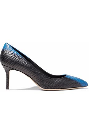 two-tone-snake-effect-leather-pumps by giuseppe-zanotti