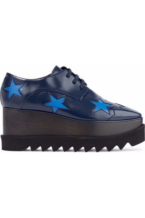 Elyse Faux Glossed Leather Platform Brogues by Stella Mc Cartney