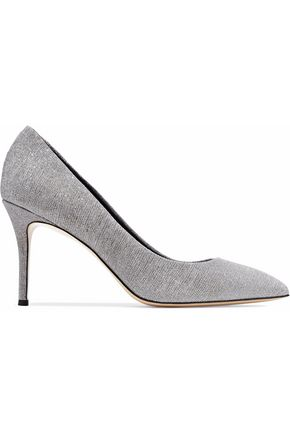 GIUSEPPE ZANOTTI Lucrezia glittered leather pumps