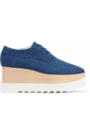 STELLA McCARTNEY Scarpa denim platform brogues