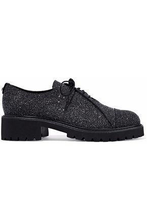 GIUSEPPE ZANOTTI Glittered leather brogues
