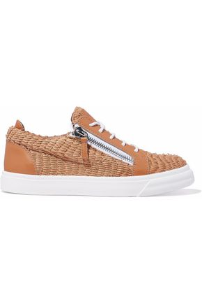 GIUSEPPE ZANOTTI Donna printed snake-effect leather sneakers