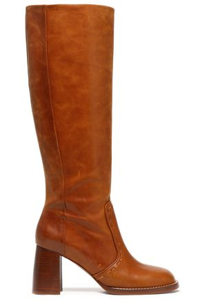JOSEPH Thompson burnished-leather boots