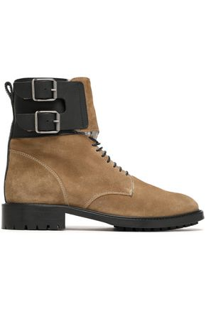 BELSTAFF Buckle-detailed suede ankle boots