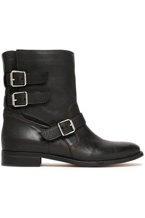 BELSTAFF Buckle-detailed leather ankle boots