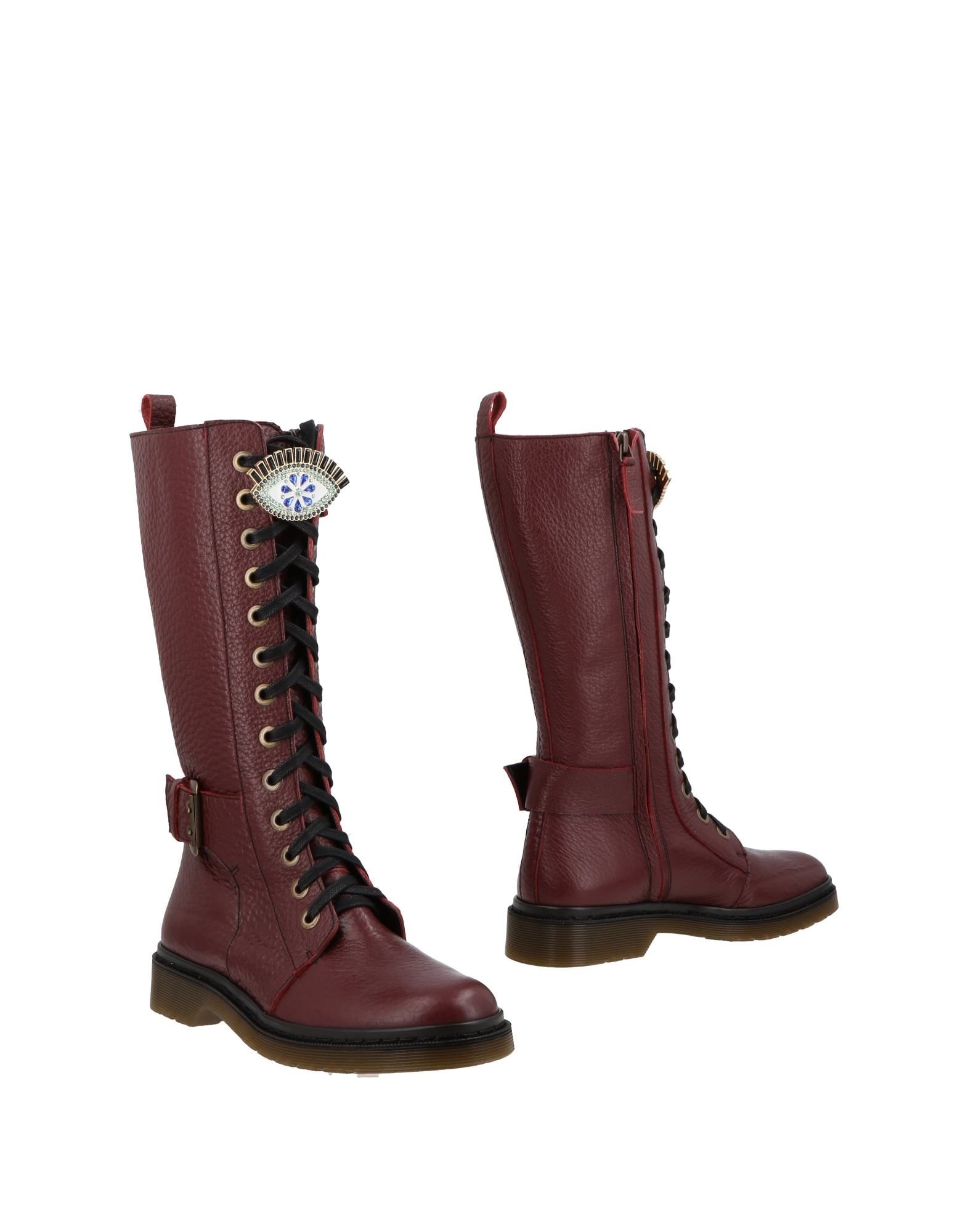 MANOUSH Boots in Maroon