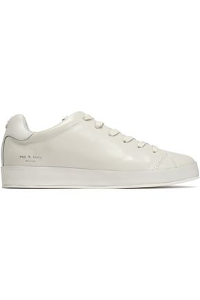 RAG & BONE RB1 glossed-leather sneakers
