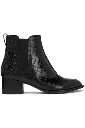 RAG & BONE Walker II croc-effect leather ankle boots
