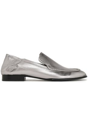 RAG & BONE Metallic leather loafers