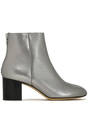 RAG & BONE Drea metallic leather ankle boots