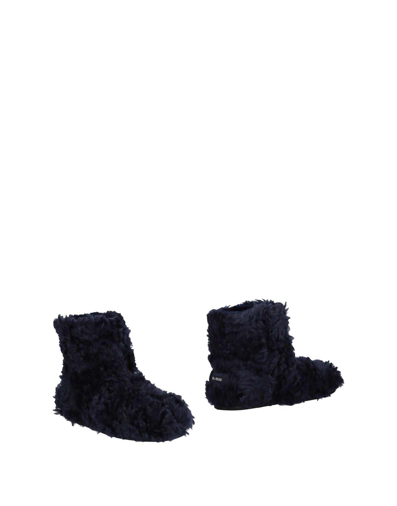 MIU MIU Полусапоги и высокие ботинки ботинки swims ботинки без каблука