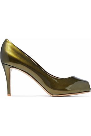 GIUSEPPE ZANOTTI Metallic patent-leather pumps