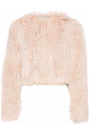 REDValentino Cropped faux fur jacket