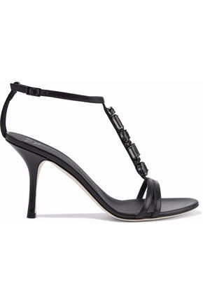 a2bfb6574ef6e1 GIUSEPPE ZANOTTI Taz crystal-embellished leather sandals