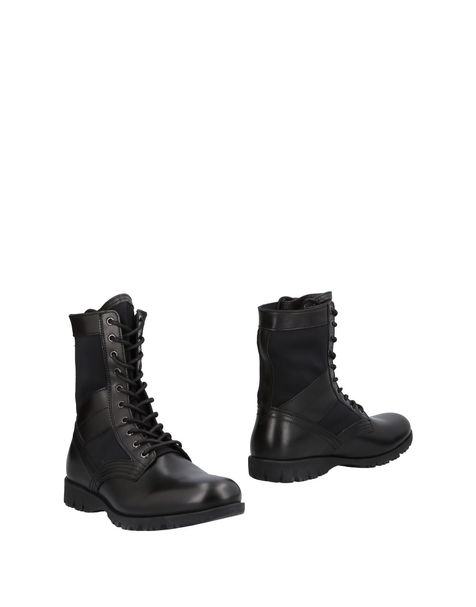 《送料無料》DIESEL メンズ ショートブーツ ブラック 40 牛革 / ナイロン / ポリウレタン