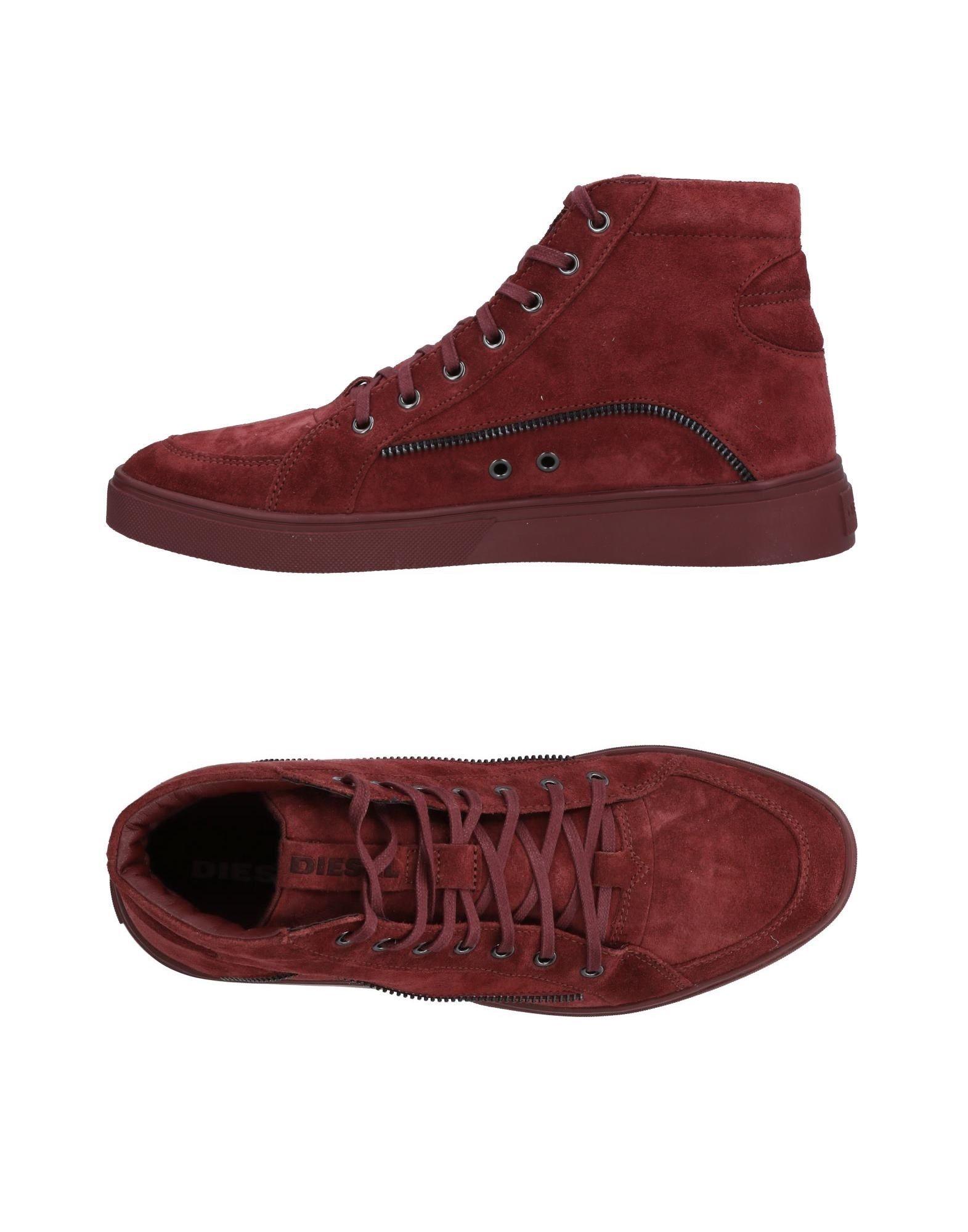 DIESEL Herren High Sneakers & Tennisschuhe Farbe Bordeaux Größe 6