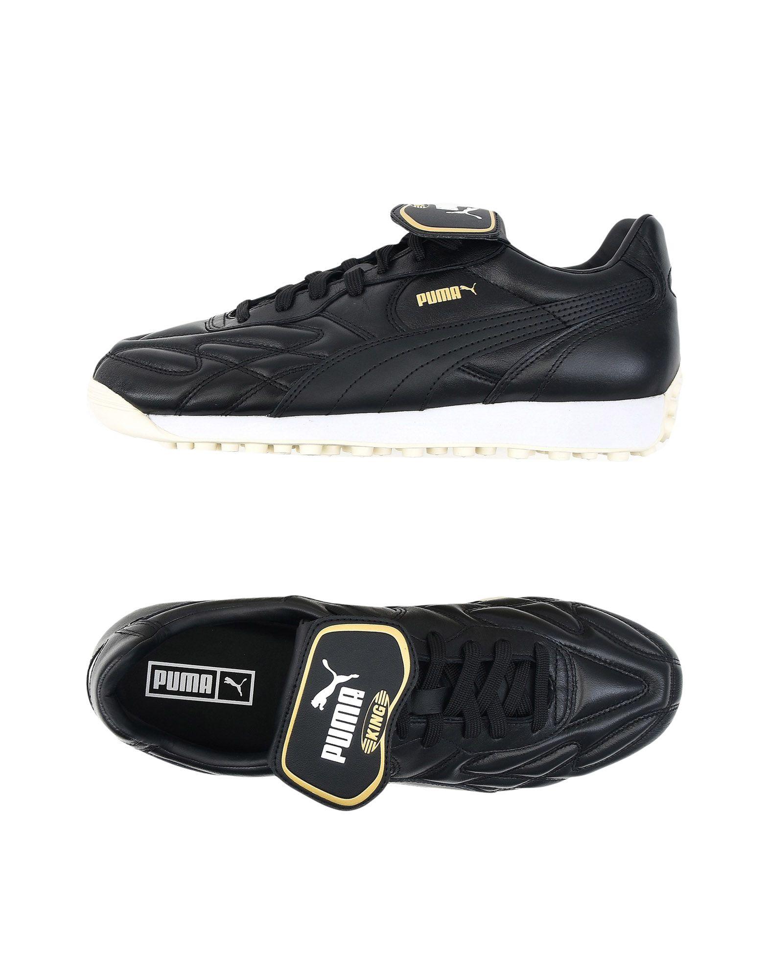 《送料無料》PUMA メンズ スニーカー&テニスシューズ(ローカット) ブラック 6 革 KING AVANTI PREMIUM