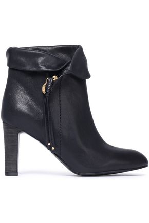 SEE BY CHLOÉ Masha brushed-leather ankle boots