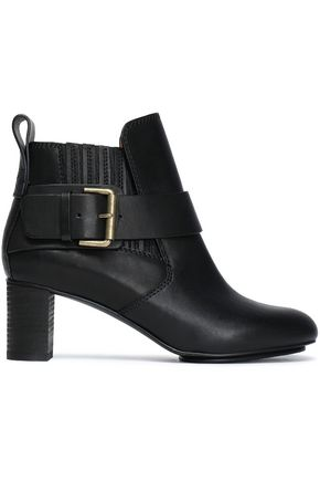 SEE BY CHLOÉ Iko buckled leather ankle boots