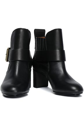8b99ad175ca Leather ankle boots   SEE BY CHLOÉ   Sale up to 70% off   THE OUTNET
