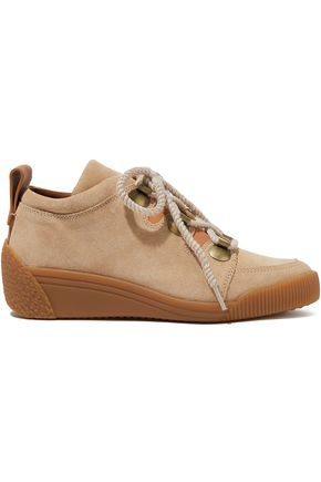 SEE BY CHLOÉ Nubuck wedge sneakers