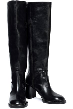 JOSEPH Moroder glossed-leather boots