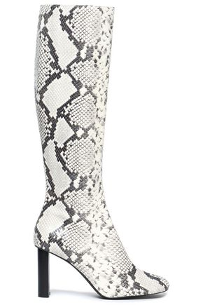 JOSEPH Moulin snake-effect leather boots