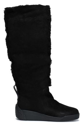 SEE BY CHLOÉ Suede and shearling boots