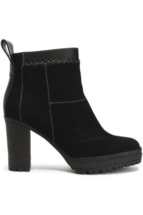 SEE BY CHLOÉ Polina patchwork suede and leather ankle boots