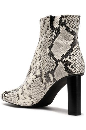 JOSEPH Moulin snake-effect leather ankle boots