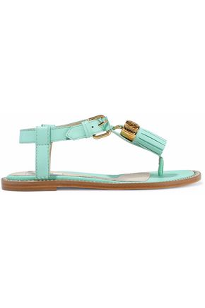 MOSCHINO Tasseled leather sandals