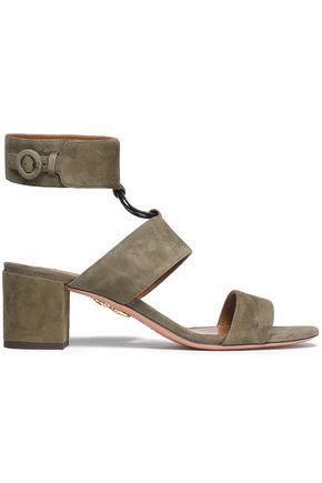 AQUAZZURA Safari suede sandals