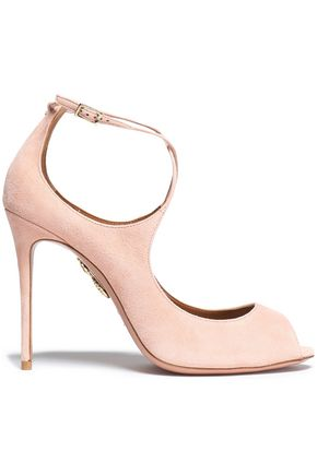 AQUAZZURA Zani suede pumps