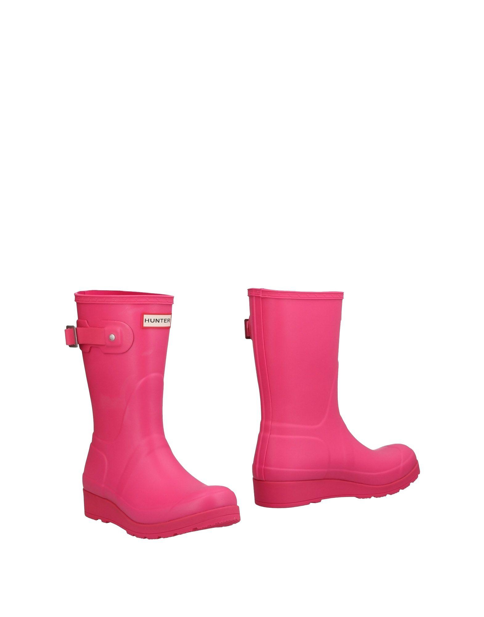 《送料無料》HUNTER レディース ショートブーツ ピンク 3 ゴム
