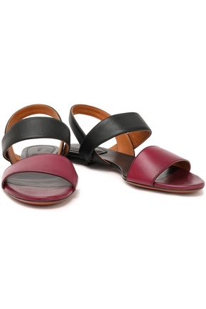 CHLOÉ Two-tone leather slingback sandals