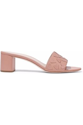 LOEFFLER RANDALL Heartette appliquéd leather sandals