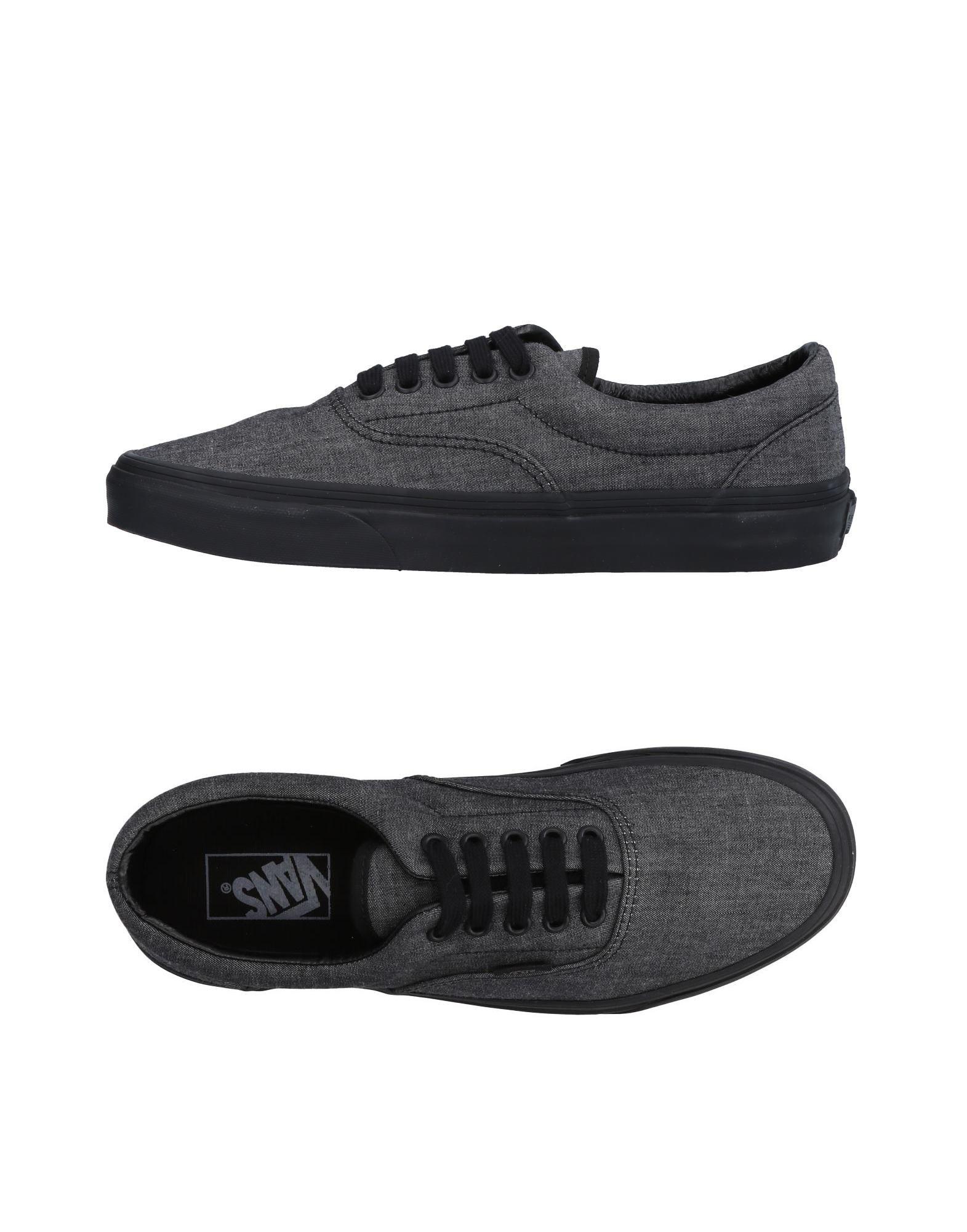 《送料無料》VANS メンズ スニーカー&テニスシューズ(ローカット) ブラック 8.5 紡績繊維