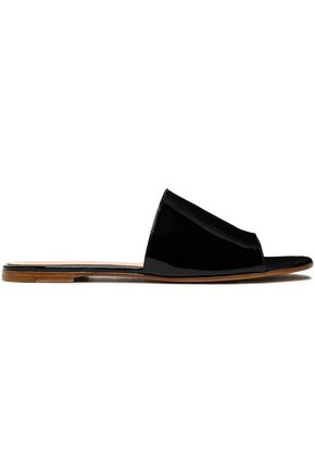 GIANVITO ROSSI Capri patent-leather slides