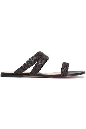 GIANVITO ROSSI Braided leather slides