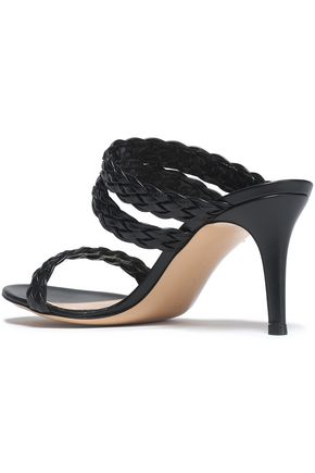 GIANVITO ROSSI Braided leather mules