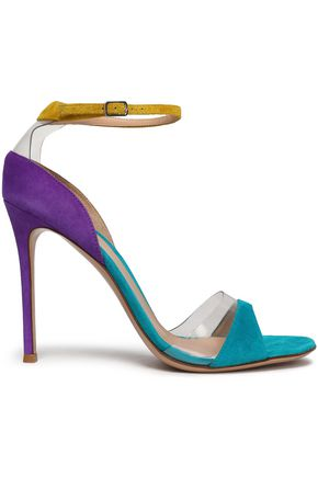 GIANVITO ROSSI PVC-trimmed patent-leather sandals
