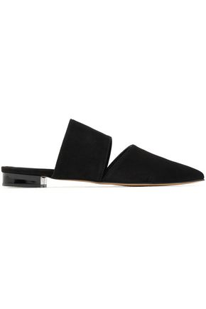 IRIS & INK Estelle cutout suede slippers