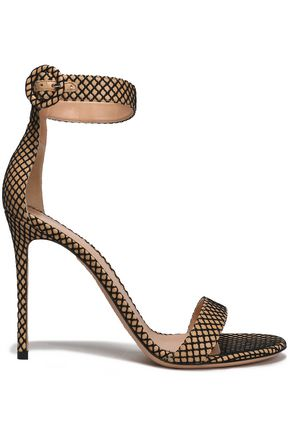 GIANVITO ROSSI Embroidered leather sandals